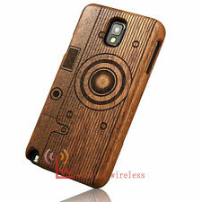 Real Natural Bamboo Wood Wooden Hard Cover Case For Samsung Galaxy Note 3 4
