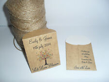 Personalised Wedding Seed Rustic Envelopes/Packets the butterfly tree