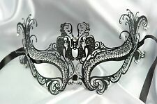 Metal Womens Masquerade Mask Prom Costume Christmas New Year Eve midnight party