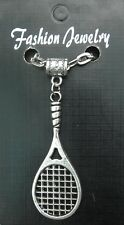 """20"""" or 24"""" Inch Chain Necklace & Tennis Racket Pendant Charm Souvenir Gift Brand"""