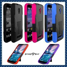 Alcatel One touch Pop Mega Case Hard&Soft Rubber Hybrid Armor Defender Kickstand