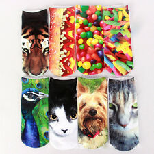 1 Pair Casual Women Fashion Low Cut Ankle Socks Cotton 3D Printed  Cartoon
