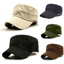 Fashion Adjustable Classic  Cadet Military Cap Army Plain Vintage Unisex Hat