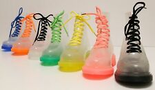 Woman's Fashionable Lace-up Jelly Ankle High Martin Rain Boots with Socks