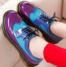 Women Fancy Oxford Mary Jane Lace-up Flats Sport Casual Roma Vintage Punk Shoe