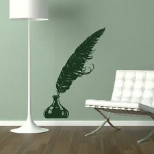 Quil Wall Stickers! Pen Decor / Writing Decal / Plume Ink Plumage Art New RA164
