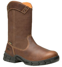 Mens Timberland Pro Excave Wellington Leather Boots Steel Toe (D,M) Brown 87559
