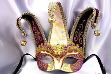 Venetian Masquerade Ball Costume Prom Party Jolly Jester Half face Eye Mask