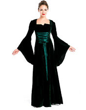 Green Medieval Fancy Dress Renaissance Costume Gown Game of Thrones UK Size 8/10
