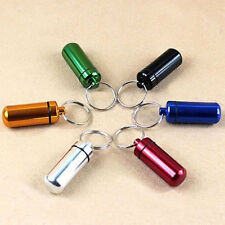 Useful New Fashion Aluminum Waterproof Pill Box Case Cache Drug Holder Key-chain
