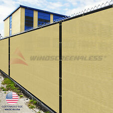 Customize 4' (H) Fence Privacy Screen Windscreen Mesh Fabric Cover Yard Pool