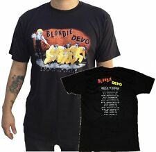 """Devo/Blondie """"Whip It To Shreds Tour 2012"""" Double Sided T-Shirt - FREE SHIPPING"""