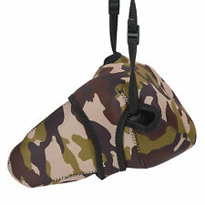 Camouflage insert camera bag for Canon Nikon Sony DSLR with zoom lens