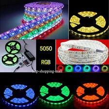 5050 SMD 5M 10M 15M Tira de Blanco Calido 300 LED Rollo Luz Light Strip Lamapra