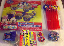 Mickey Mouse & Friends Birthday Party Supplies Cupcake Stand Straws Snack Pails