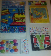 Birthday Party Supplies Banner Invitation Table Cloth Pin the Tail on the Donkey