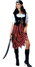 Pirate Lady Caribbean Buccaneer Swashbuckler Fancy Dress Costume XS to XXL
