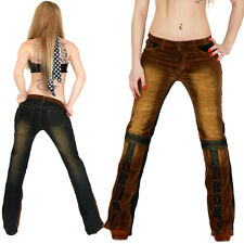 SEXY DAMEN HOSE JEANS CORD BOOTCUT BOOT CUT COWBOY COWGIRL