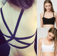 Lady Sexy Padded Bra Tops Bustier Cutout Vest Crop Top Bralette Tank Cami Blouse