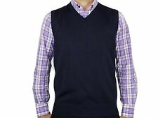MEN'S SOLID NAVY COLOR SWEATER VEST,BAGAZIO SIZES MEDUIM - 6 XLARGE NEW WITH TAG