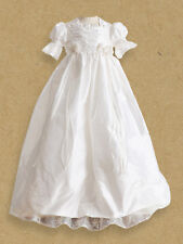 Cassiani Couture Victoria 100% Silk Dupioni Beaded Lace Baptism Christening Gown