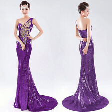 2015 BLING Sequins Long Mermaid Celebrity Evening Formal Prom Dresses Party Gown