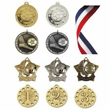 Football Medals - Your Choice of School, Sports Club Football Awards with Ribbon