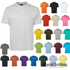 Mens Plain 100% Cotton T-Shirt | Adults Blank Tee Shirt | Plus Size | Size S-5XL