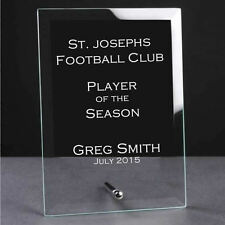 Personalised Engraved Jade Glass Plaque Trophy Award - Football Golf Darts Rugby