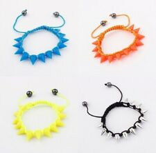 NEON SPIKE SILICONE FRIENDSHIP BRACELETS SILVER SPIKE GOTH