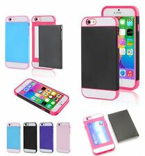 For iPhone 6 / 6S - HARD RUBBER GUMMY CREDIT CARD ID HOLDER TPU SKIN CASE COVER