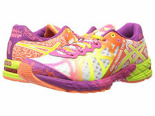 NEW! WOMENS ASICS GEL-NOOSA TRI 9 WHITE FLASH YELLOW PLUM RUNNING SHOES SIZE