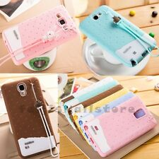 Cute Sweet Rabbit / Robot Skin Rope GEL Silicone Rubber Case Cover For Samsung