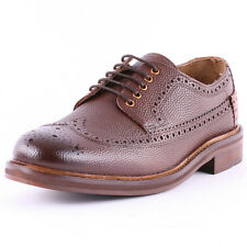H by Hudson Haddow Mens Leather Brown Brogues New Shoes All Sizes