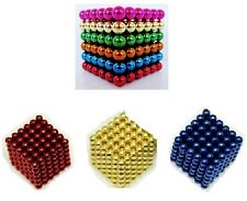 BRAND NEW 3MM/5MM BLUE/BLACK/RED/GOLD MAGIC CUBE 216 MAGNETIC BALLS PUZZLE TOY