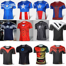 Men Marvel Comics Superhero Costume T-shirt Avengers Cycling Jersey short Tee