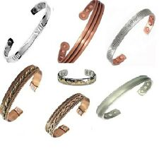 Magnetic Therapy Bangle Copper Arthritis Pain Relief Gents Ladies New UK
