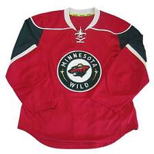 New NHL Reebok Authentic Edge Minnesota Wild Hockey Jersey Size 46 50 Red