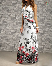 Modish NEW Bohemian Long Dress Charming Women's Sexy Peacock Printed Summer GTAU