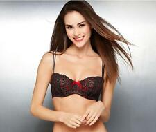 B.tempt'd by Wacoal Ciao Bella Balconette Bra IN BLACK/GOLD/RED. BB-13