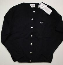 NWT Lacoste Boys Navy Button Down Cardigan Sweater 8a 10a 12a 14a 16a NEW $90 6a