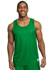 SportTek PosiCharge Sleeveless Reversible Mesh Basketball Jersey Tank Men Green
