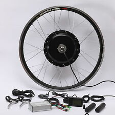 "48V 1000W Electric Bicycle Cycle E Bike 26"" Conversion Kit Hub Motor"