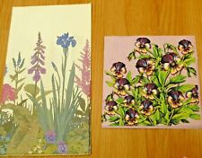 4 sets paper napkins,lilly of the valley,poppy,daisy,snowdrop,33cm-2ps,decoupage