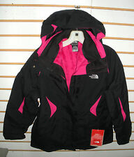 THE NORTH FACE WOMENS BOUNDARY TRICLIMATE JACKET- A6FB- BLACK/ P PINK- M, XL