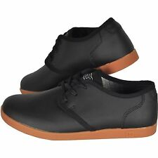 Men's DC Village Black Leather Low Cut Skate Shoes. Size 8. NIB, RRP $109.95.