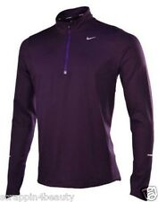 New with tag Nike men's 1/2 half zip element shirt purple 519199-506