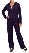 DANSKIN NOW VELOUR HOODIE PANTS TRACKSUIT SET PLUS SIZE WOMEN XL & 4XL PURPLE