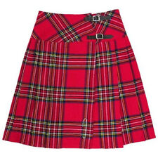 "Royal Stewart Plaid 23"" Mid Calf Scottish Kilt Skirt - US Size 4 - 26"