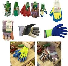NEW GARDEN LADIES/GENTS LIGHTWEIGHT RUBBER/LEATHER/LATEX GLOVES WATER PROOF